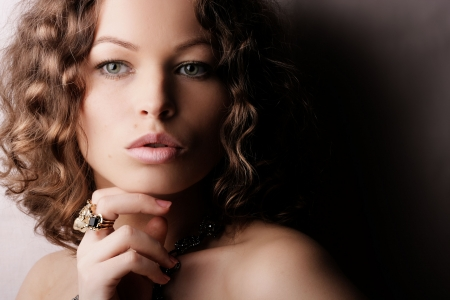 Sch�ne Frau. Fashion art photo. Close-up Make-up  Lizenzfreie Bilder