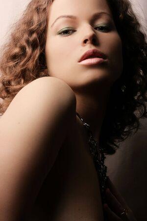 Beautiful woman. Fashion art photo. Close-up makeup Stock Photo - 2421393