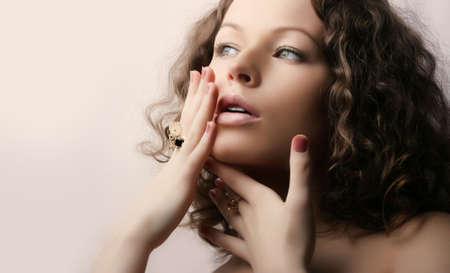 Beautiful woman. Fashion art photo. Close-up makeup Stock Photo - 2444318
