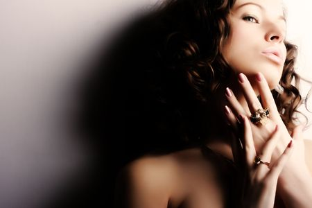 Beautiful woman. Fashion art photo photo