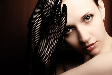 Beautiful woman portrait. Fashion art photo Stock Photo - 2657055