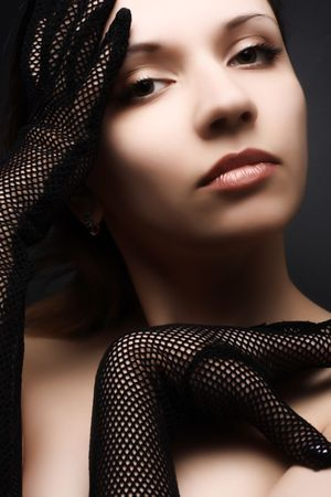 Beautiful woman portrait. Fashion art photo Stock Photo