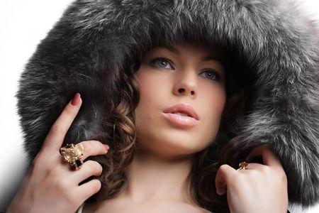 Sch�ne Frau. Winter-Mode & Make-up