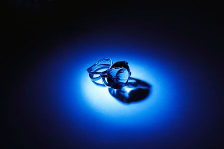 Great crystal ring in blue light photo