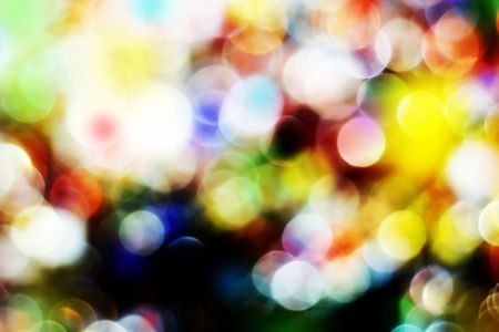 Blurry pattern of colorful decoration lights Stock Photo - 2706584