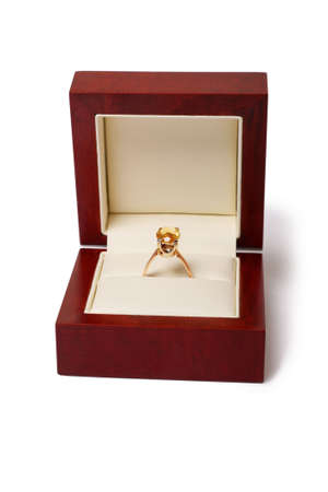 engagement ring in a jewel box photo