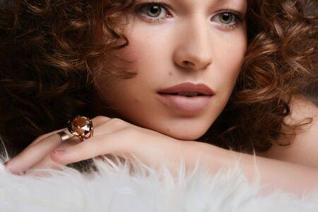 Jewelry and Beauty. Fashion art photo