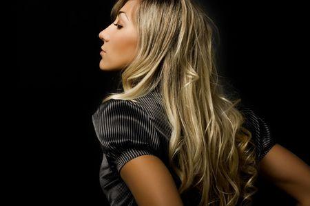 Beautiful blond girl. Lizenzfreie Bilder