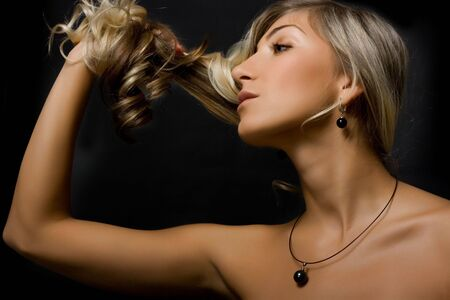 Beautiful blond girl. Stock Photo - 3421095