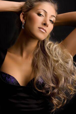 Beautiful blond girl. Stock Photo