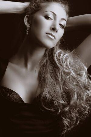Beautiful blond girl. Fashion art photo Stock Photo - 3462934