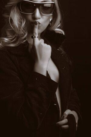 Beautiful blond girl. Fashion art photo Stock Photo - 3462924