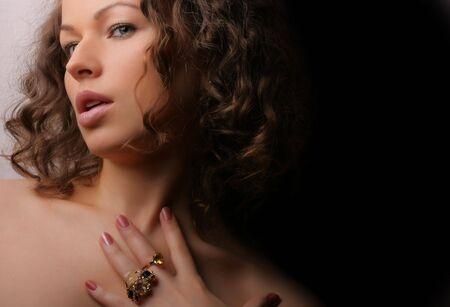 Beautiful woman. Fashion art photo. nJewelry and Beauty Stock Photo