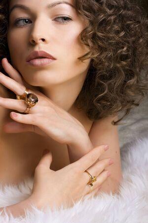Schmuck und Beauty. Fashion art photo Lizenzfreie Bilder