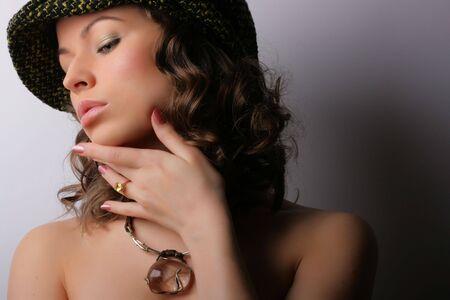 Beautiful woman. Makeup & Fashion