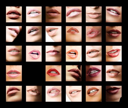 beautiful lips with different colors Stock Photo