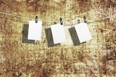 blanks: Three film blanks on a rope