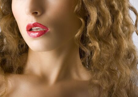 Closeup portrait of a natural beauty photo