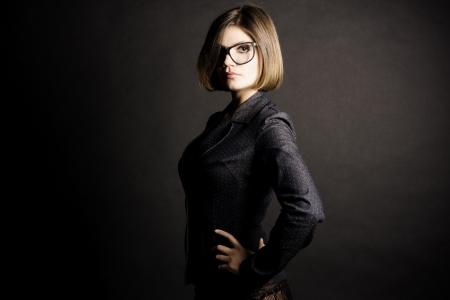 Sexy business girl.  Fashion art photo