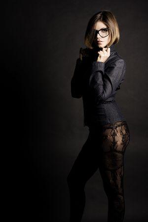 Sexy business meisje. Fashion art