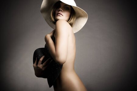 Sexy woman and hat Stock Photo