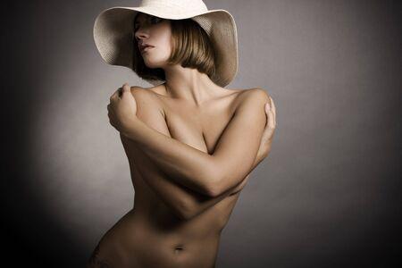 Sexy Frau und Hut Lizenzfreie Bilder