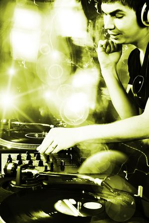 Dj playing disco house progressive electro music at the concert Stock Photo - 5827742