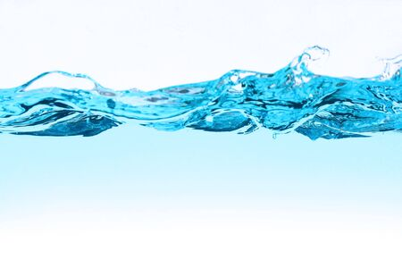 fluidity: water wave and bubbles over white background