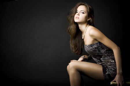Portrait of a beautiful young woman with dark hair Stock Photo - 6314060