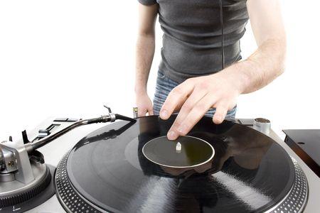 Dj playing disco house progressive electro music Stock Photo - 6384451
