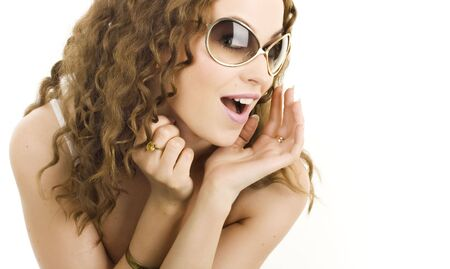 A sexy girl in sunglasses Stock Photo - 6384444