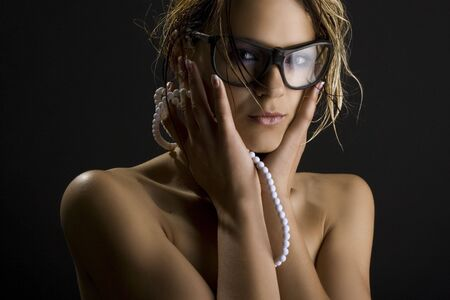 A sexy girl in glasses Stock Photo - 6384449