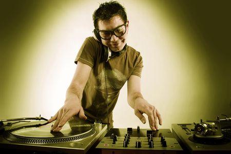Dj playing disco house progressive electro music Stock Photo - 6644641