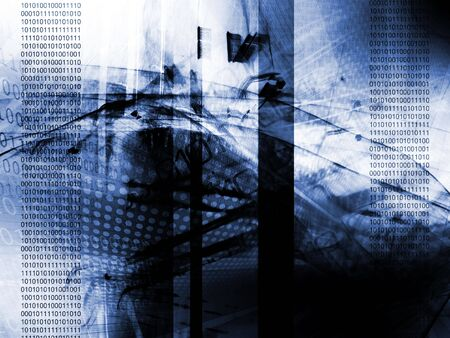 Abstract technology background, binary code Stock Photo - 6718263