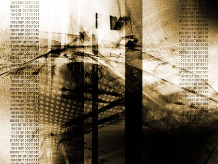 Abstract technology background, binary code Stock Photo - 6718262