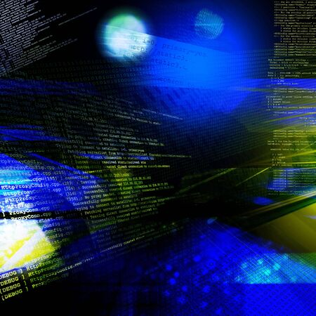 Abstract technology background, binary code photo