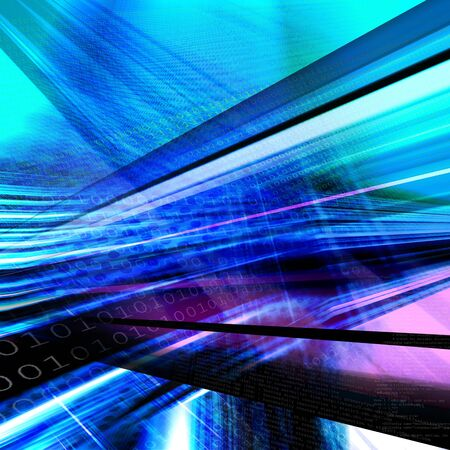 Abstract technology background, binary code Stock Photo - 6718261