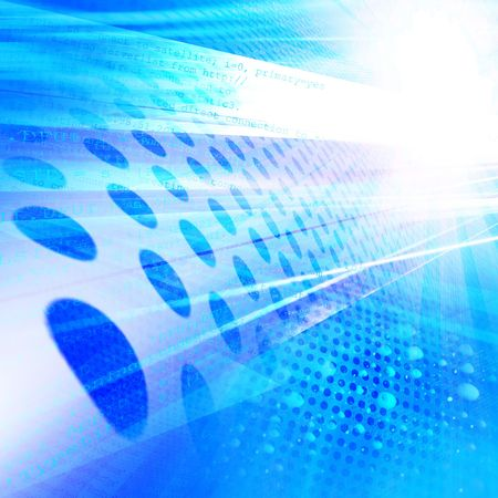 on high: Fondo de tecnología abstracta, código binario Foto de archivo