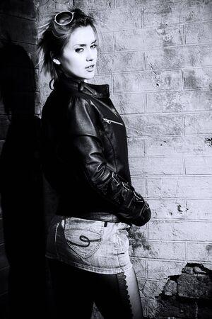 Fashion art photo. The beautiful young girl. Retro styled photo photo
