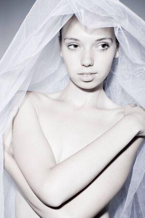 Portrait of the beautiful innocent bride  Stock Photo - 7525733