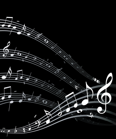 vocal: High quality vector music notes  This image is a vector illustration and can be scaled to any size without loss of resolution   Illustration