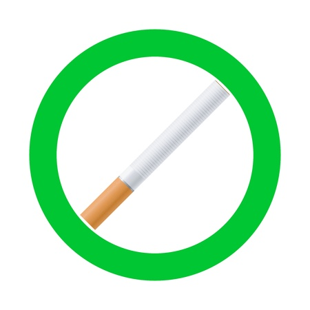 designated: High quality vector smoking area sign Illustration