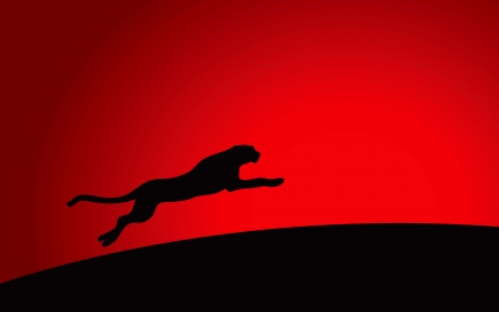 jaguar: High quality vector graphic of leopard running