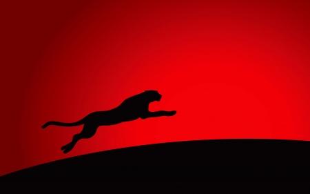 jaguar: Vector de alta calidad gr�fica del leopardo corriendo