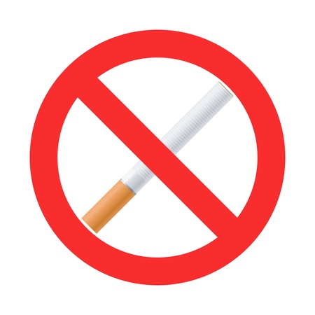 strictly: High quality vector no smoking sign Illustration