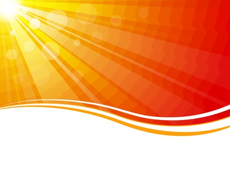 warm colors: High quality vector sun rays. (This image is a vector illustration and can be scaled to any size without loss of resolution.)