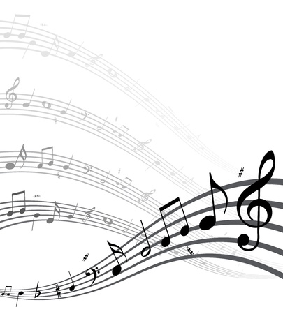 poem: High quality vector music notes.(This image is a vector illustration and can be scaled to any size without loss of resolution.) Illustration