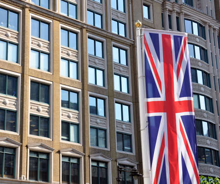 offices and union jack flag