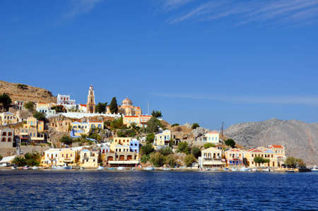 The Harbour at Symi, Rhodes, Greece  photo