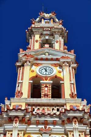 Clock Tower at Panormitis Monastery, Symi, Rhodes, Greece  photo